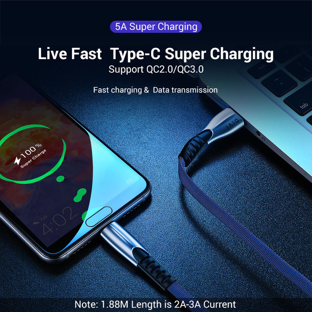 USB Type C Cord Phone Charger Fast Charging