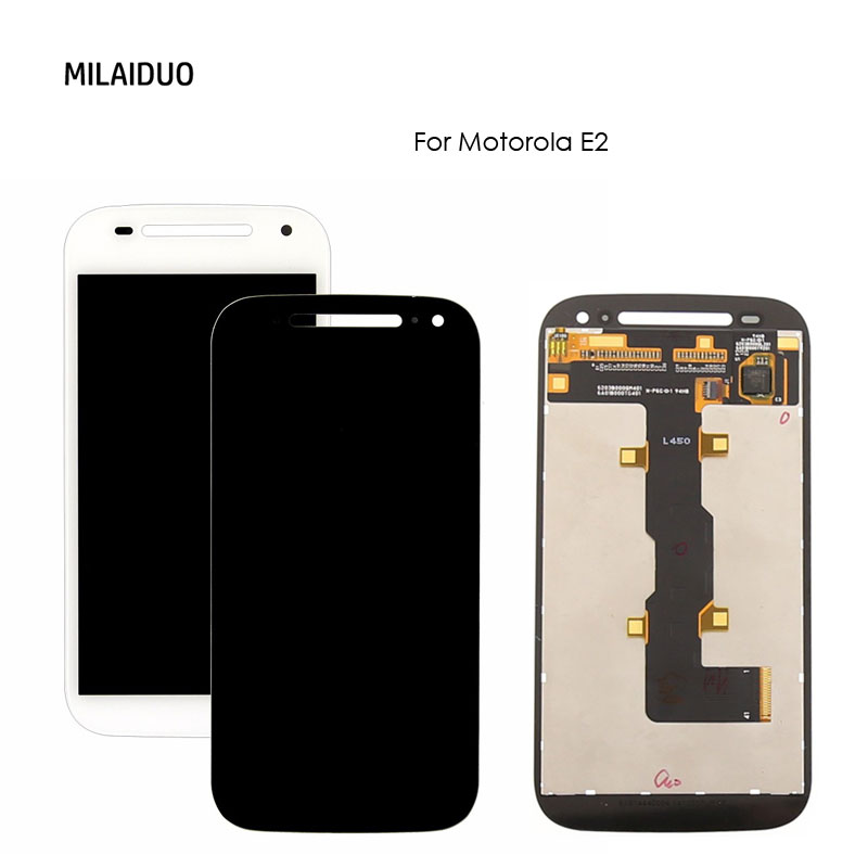 For Motorola Moto E2 Xt1505 Xt1524 Xt1527 Xt1511 LCD Display Touch Screen Mobile Phone Digitizer Assembly Replacement Parts