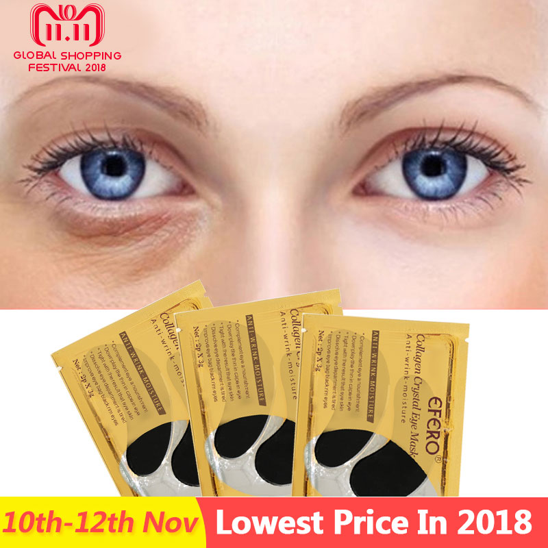 Collagen Crystal Eye Mask Gel Eye Patches Under the Eyes Care Dark Circles Remove Anti Wrinkle Cream Black Eye Pads 5packs=10pcs mabox natural eye gel for appearance of dark circles puffiness wrinkles and bags for under and around eyes eye gel essence gel
