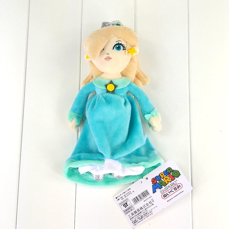 23 cm super mario en peluche jouet princesse rosalina en bleu robe