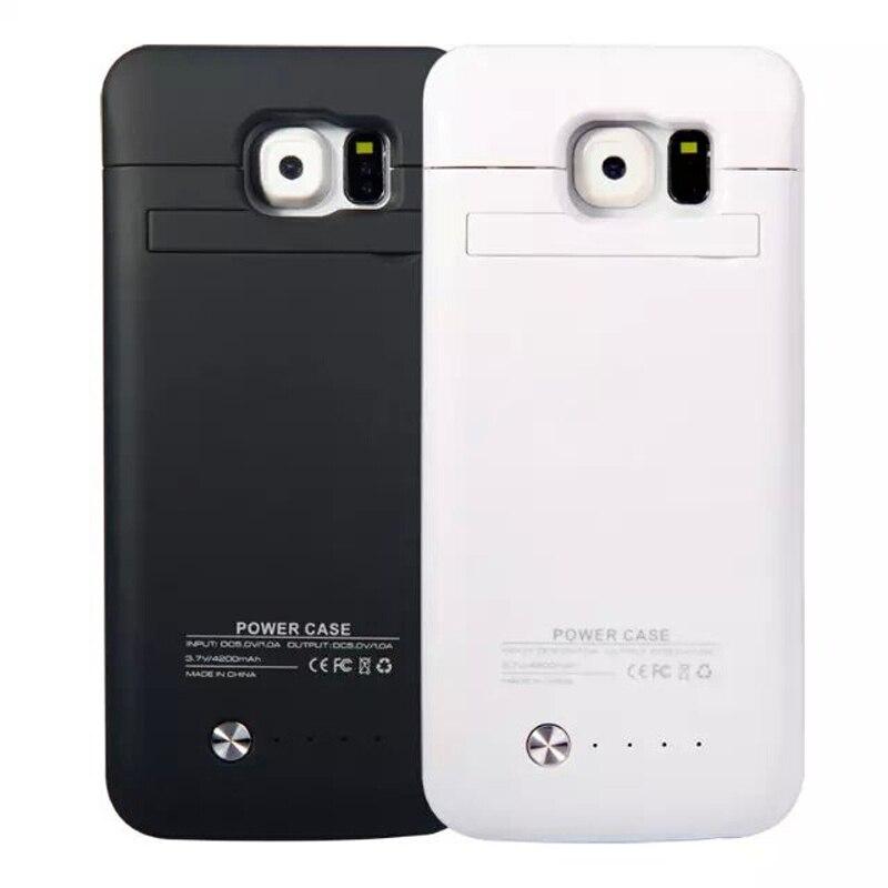 bilder für 4200 mah Ultra Slim Portable Backup Externes Ladegerät Fall 4200 mah Energienbank Abdeckung Für Samsung Galaxy s6/S6 rand