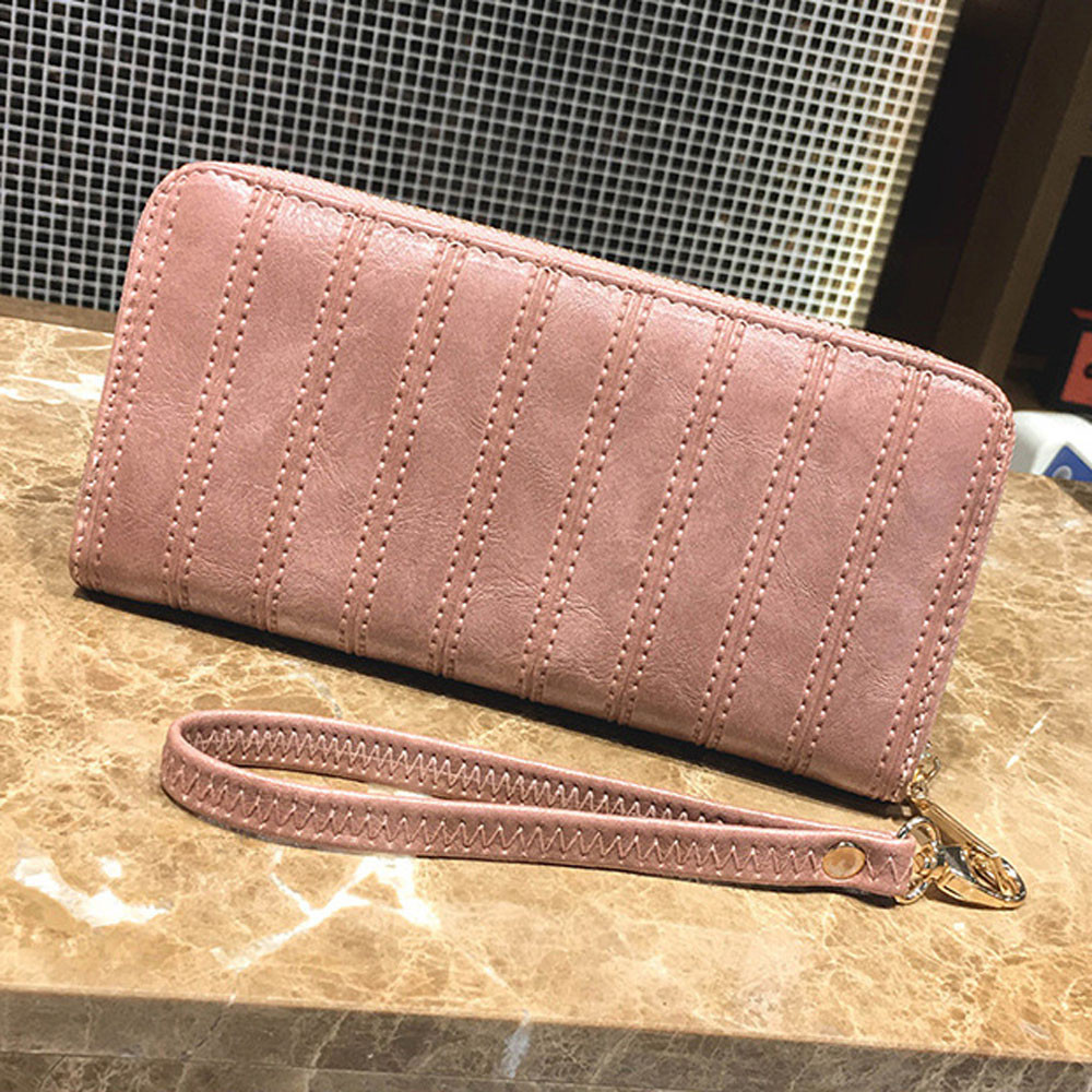 2018 New Fashion Women Wallets Female Card Holder PU Leather Wallet Long Clutch Coin Purse Vintage HandBag Zipper Droship 10Aug6 fashion women leather wallet female long card holder big stone wallets casual clutch zipper coin purse