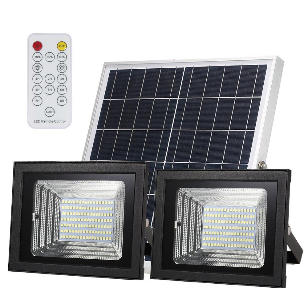 Solar Dual Head Flood Light With Remote