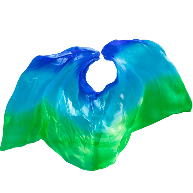 Image 5 - New style Belly dance veils 100% silk veils handmade gradual color veils can be customized-in Belly Dancing from Novelty & Special Use