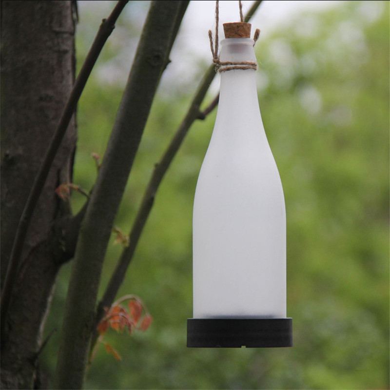 5pcs/lot Outdoor Cork Wine Bottle Sense LED Solar Powered Light Hanging Garden Lamp For Party Courtyard Patio Pathway Decoration