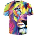 Venda quente 3D T shirt Homens Verão Curto-luva Slim Fit Tshirt moda Animal Impresso T-shirt Dos Homens de Hip Hop Tops Tee Tamanho Grande 6XL