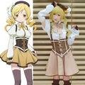 Puella Magi Madoka Magica Tomoe Mami Dress Uniform Outfit Cosplay Costumes
