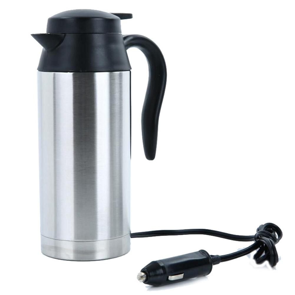 Adoolla 750ml 12V/24V Stainless Steel Vehicle-mounted Electric Kettle For Travel