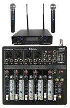 STARAUDIO Professional DJ Stage Club Audio 6 Channel USB Bluetooth Mixer W/ 2CH UHF IR Microphone SMX-6000B