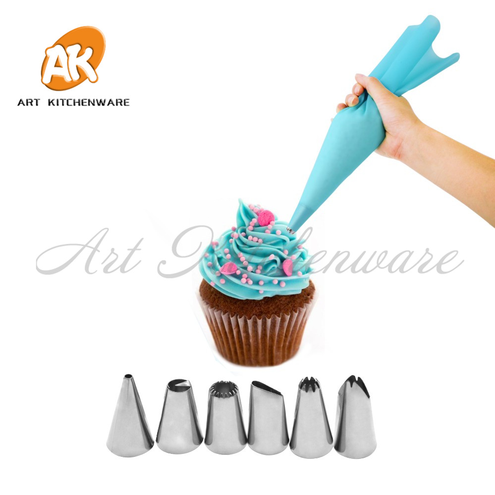 38pcs Stainless Steel Pipping Nozzles Tip Pastry Tube Set Cake Cookie Biscuit
