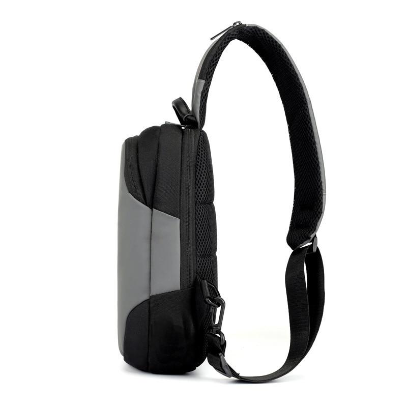 Korean Version Men Multipurpose Chest Bags USB Charging Crossbody Bags Male Anti Theft Sling Bag Short Trip Messenger Bags 2019 in Waist Packs from Luggage Bags