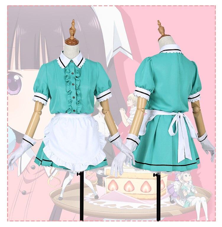 83267dbb0c Anime Blend S Cosplay Costume Hinata Kaho/Sakuranomiya Maika/Amano  Miu/Hoshikawa Mafuyu/Kanzaki Hideri Maid Apron Dress Uniform