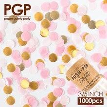 [PGP] Gold Rosa Weiß Kreis Seidenpapier Confetti, Push Pop, für Hochzeit Baby-brautparty Mädchen Kinder Geburtstag Prinzessin Party