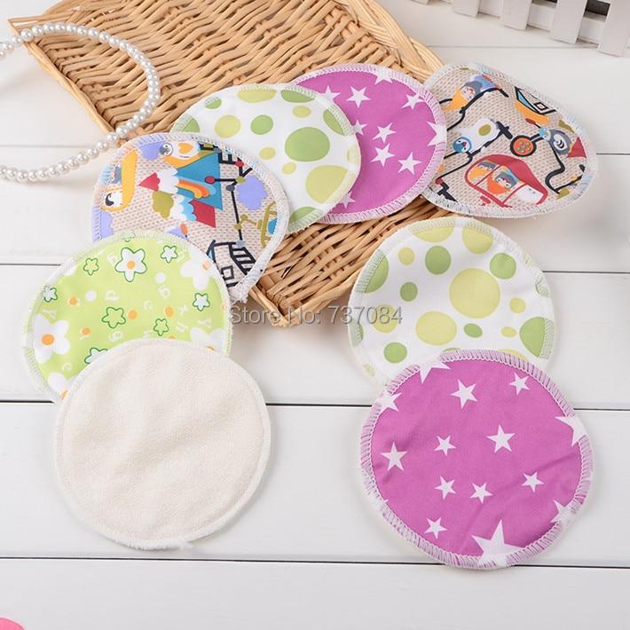 Free Shiping, 10pcs/lot Breast Nursing Pad, Absorbent Bamboo Fiber Reusable Washable, Outside Waterproof PUL Feeding Bra Pad
