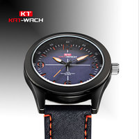 KAT WACH Sport Brand Mens Golf Watches Leather Fashion Digital Wristwatches Zegarki 2018 Dial Electronic Calendar Watch KT8001