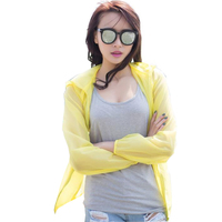 Women Cardigan Thin Spring 2017 Summer Female Blouse Teenage Girl Sunscreen Clothing Yellow Pink Gray Blue