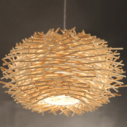 Rattan man-made Nest Bird Cage Lamp Wood pendant Lights AC 110/220V E27 30/40/50cm with Incandescent Bulbs For Light Home DecorRattan man-made Nest Bird Cage Lamp Wood pendant Lights AC 110/220V E27 30/40/50cm with Incandescent Bulbs For Light Home Decor