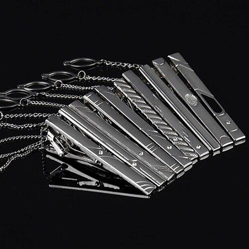 Multi Styles Gentleman Silver Metal Simple Necktie Tie Clip Bar Pin Practical for men gi ...