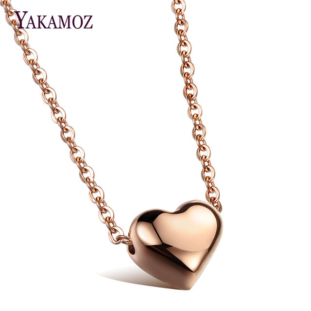 Aliexpress buy yakamoz vintage love heart pendants necklaces yakamoz vintage love heart pendants necklaces fashion long chain stainless steel jewelry gold silver color choker mozeypictures Images