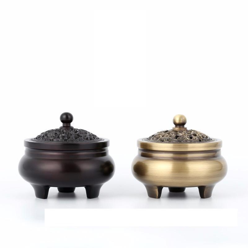 Brûleur d'encens en laiton Portable Antique encensoir Reflux couleur Vintage accessoires de décoration de la maison artisanat traditionnel porte-encens