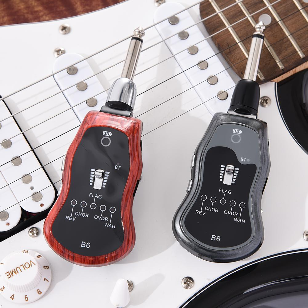 USB Rechargeable Reverb/Chorus/Chrome/Overload/Frog 5 Sound Modes Electric Guitar Effector Amp Support Bluetooth Transmission