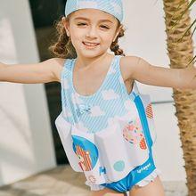 SABOLAY 2-8 Years Infant Baby Swimwear Girls Buoyancy Swimsuit Life Jacket Floating UV Prodection Kid Child Bathing Suits
