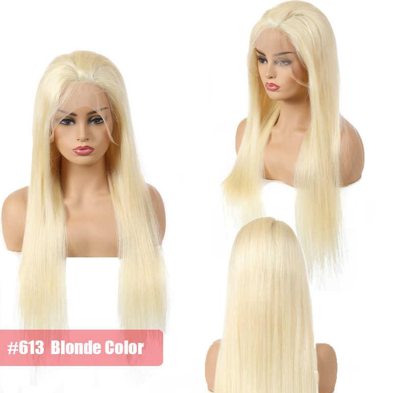 Али queen hair бразильский Волосы remy прямо Full Lace парики предварительно сорвал человеческих волос с ребенком волосы 130% Denisty 1b или блондинка 613