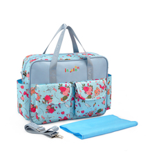 Insular Mummy Printed Travel Nappy Shoulder Bag Large Capacity Baby Diaper Messenger Tote