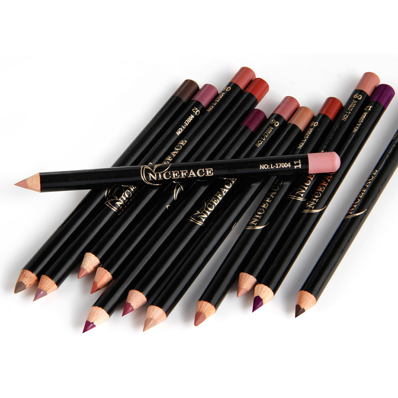 2018 12 farben Professionelle Lipliner Make-Up Wasserdicht <font><b>Lip</b></font> <font><b>Liner</b></font> Bleistift Set image