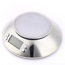 5kg Stainless Steel Kitchen Scale LCD Digital Electronic  with Bowl Alarm Timer Temperature Sensor