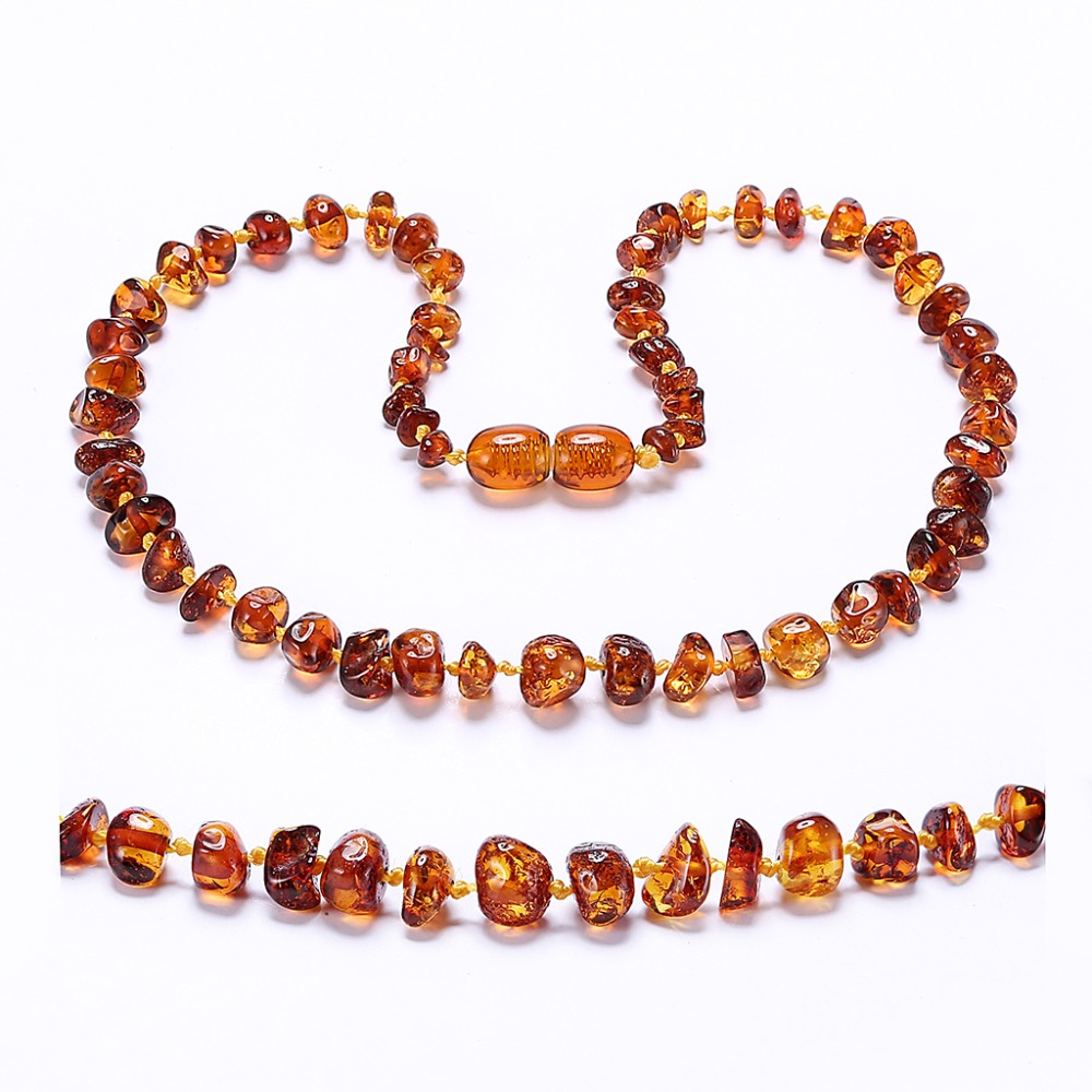 Amber Teething Necklace/Bracelet - No invoice, no price, no logo - 7 Sizes - 4 Colors - Ship from US&UK&AU&CN(China)