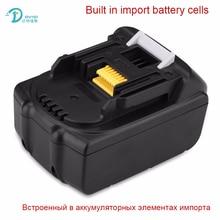 D'origine DVISI 18 V 3000 mAh Li-ion Rechargeable Batterie de Remplacement Outils Électriques Batteries pour Makita BL1830 BHP451