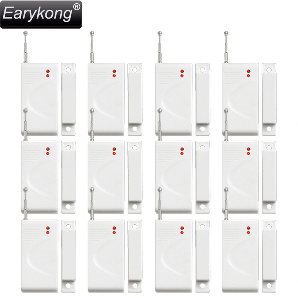 Free shipping White 12pcs wireless Door magnetic sensor new GSM Alarm System High quality Home Burglar Security Alarm System high quality marlboze gsm alarm system shock sensor vibration sensor free shipping