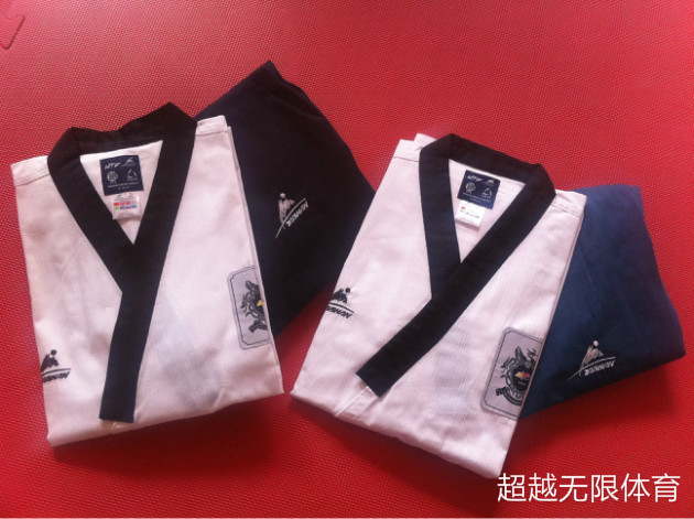 TAISHAN WTF Poomsae Dan dobok Male Female Taekwondo suits authentic designated Taishan TKD Poomsae fabrics uniforms have Dan itf full embroidery taekwondo clothing standard plain 1 3 dan assistant instructor doboks 4 6 dan instructor uniforms wholesale