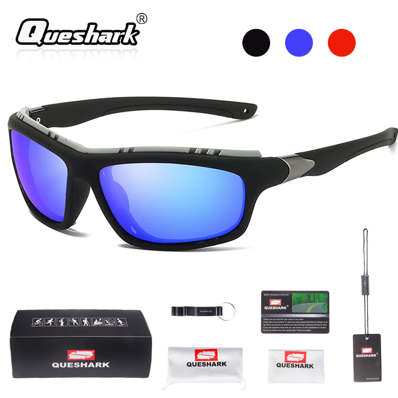 fbf11f2a42 Detail Feedback Questions about Queshark Polarized Bicycle Glasses Cycling  Eyewear Night Version MTB Mountain Bike Goggles Motorcycle Fishing Sport ...