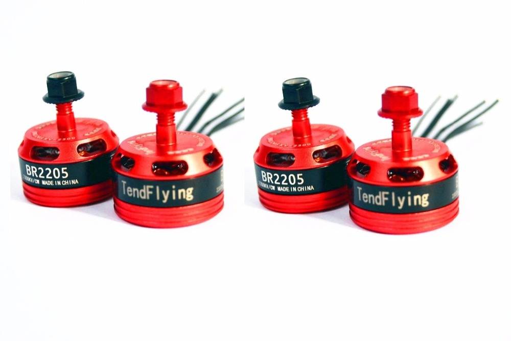 New Arrival 4pcs TendFlying 2205 <font><b>BR2205</b></font> 2300KV 2-4S Brushless Motor 2 CW & 2 CCW For QAV250 ZMR250 260 Multirotor image