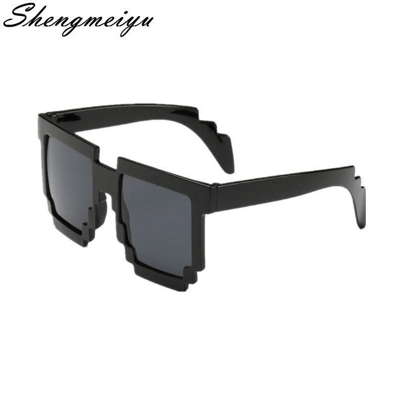 974436df8a Detalle Comentarios Preguntas sobre Minecraft gafas 8 bit Pixel mujer  hombre gafas de sol mujer hombre mosaico gafas de sol niños niñas Vintage  en ...
