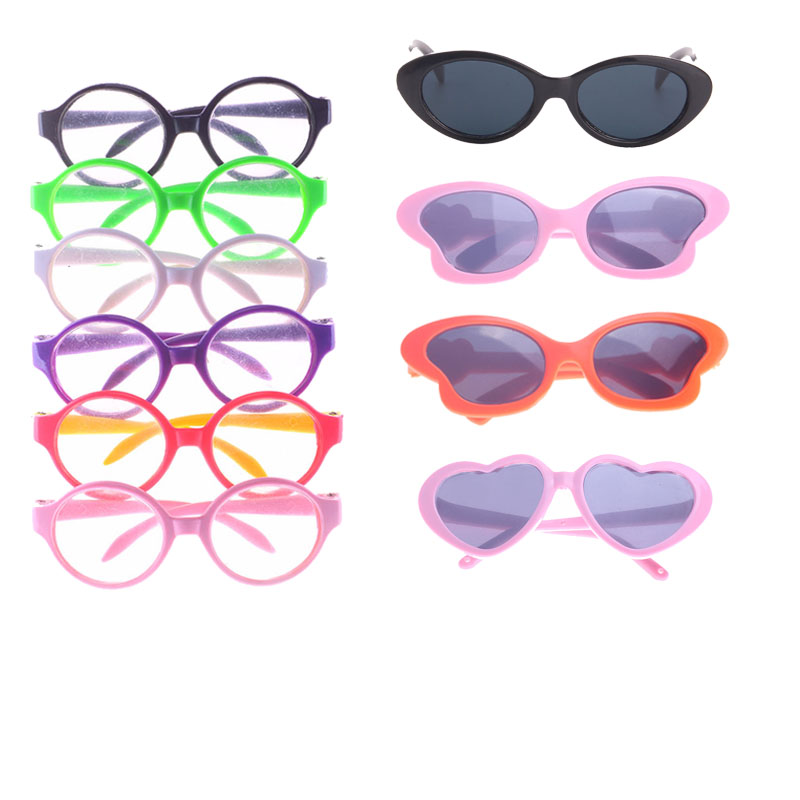 Doll Clothes Glasses 10 Colors Doll Accessories Fit 18 Inch American Doll & 43 Cm Born Doll  For Generation Girl`s Toy  Doll