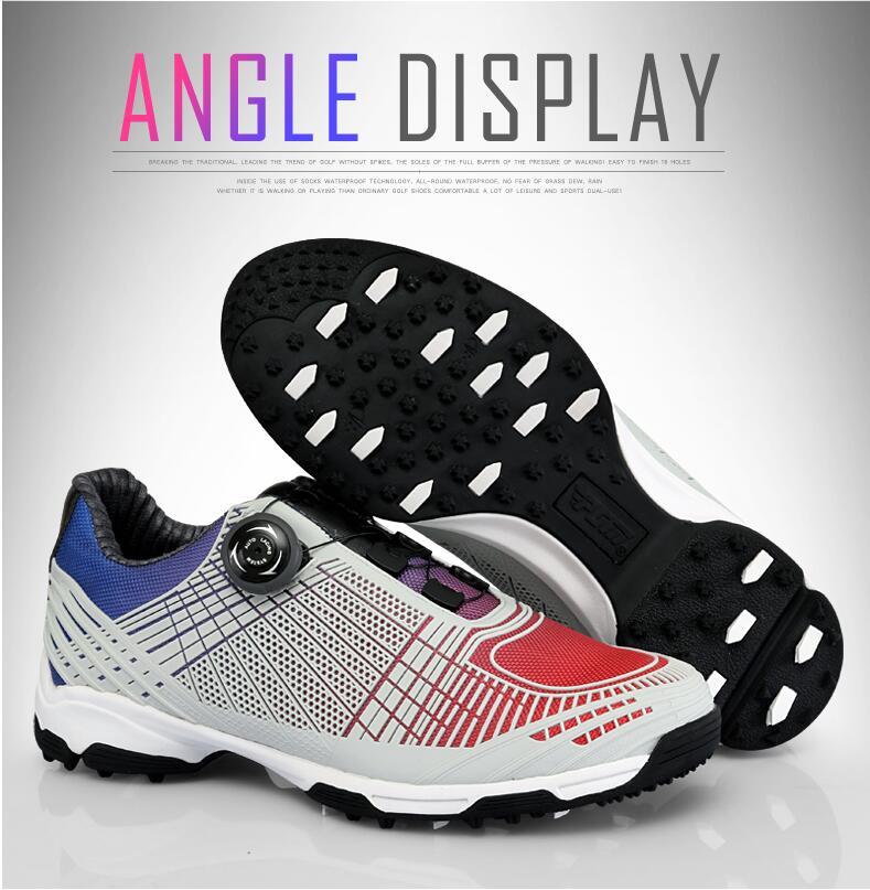 Новый PGM Гольф обувь мужская ручки пряжки обувь с double патентные обувь кроссовки