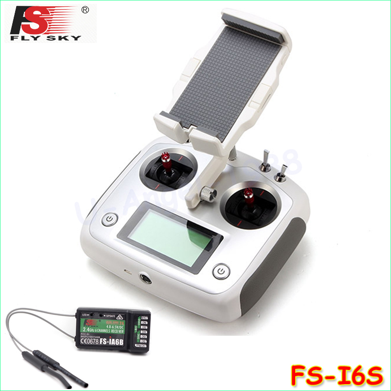 Original Flysky FS-i6S 2.4G 10CH AFHDS Touch Screen Transmitter + FS-iA6B Receiver + Mobile Holder Set Self Center Throttle Mode a975got tbd b a975got tba ch a975got tbd ch touch pad