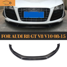 ML Style R8 Carbon Fiber Front Lip for Audi R8 GT V8 V10 2008 - 2015 Auto Racing Car Styling Front Bumper Lip Diffuser Spoiler jdm sport style front bumper lip spoiler urethane for 95 96 mitsubishi eclipse