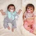 20 polegadas Artesanal vinil Silicone macio corpo roupas Ganso amarelo w chapéu bebe reborn Lifelike Bonecas boneca da menina do menino da criança bebê