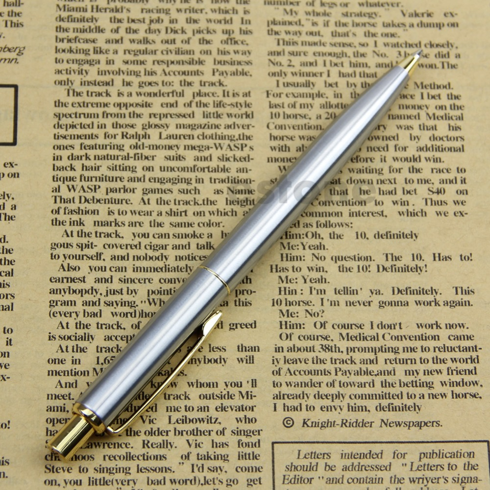 High Quality BAOER 37 stainless steel Push Ball Point Pen HOT