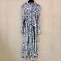 Летнее милое платье трапециевидной формы для женщин с длинным рукавом женское вечерние платье Офисная Леди 2019 Модные женские шелковые плат