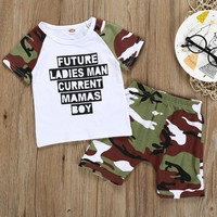 Infant Clothes Toddler Children Summer Baby Boys Girls Clothing Set Fashion Kid Sets Casual Camouflage Vest t shirt Shorts Suit