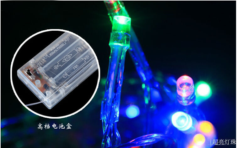 Led battery light 4m 40leds christmas string lights holiday lights wedding ro - Lampe led couleur changeante ...