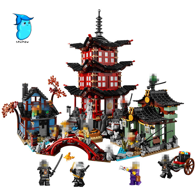 Stzhou Compatible Ninja 70751 2150pcs blocks Ninja Figure Temple of Airjitzu toys for children building blocks Legoe Lepin 0367 sluban 678pcs city series international airport model building blocks enlighten figure toys for children compatible legoe