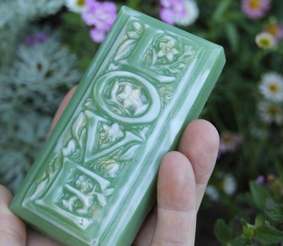 QT0031 LOVE Alphabet Rectangle Soap Molds Silicone Mold