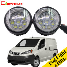 Cawanerl 2 Pieces Car LED Fog Light Angel Eye DRL Daytime Running Light Styling For Nissan NV200 M20 M20M 2010-2015(China)