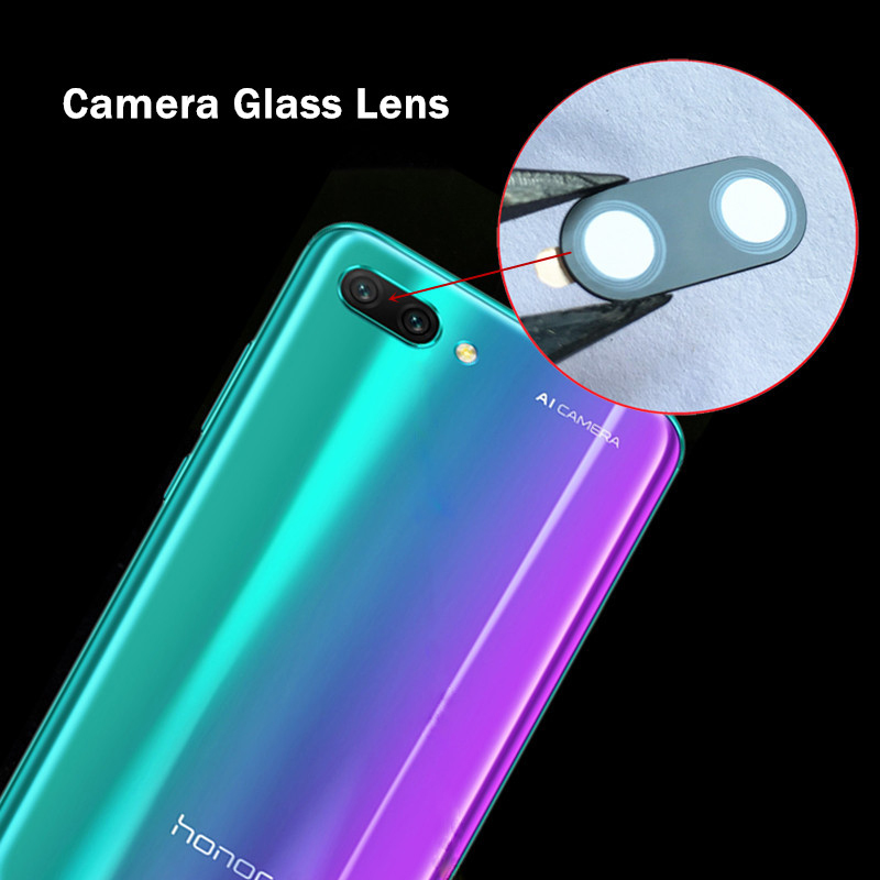 Rear Back <font><b>Camera</b></font> Glass Lens <font><b>Cover</b></font> For Huawei <font><b>Honor</b></font> Note 10 <font><b>9</b></font> <font><b>Lite</b></font> 8X Max V10 Play With Adhesive Tape Replacement+Tracking Number image